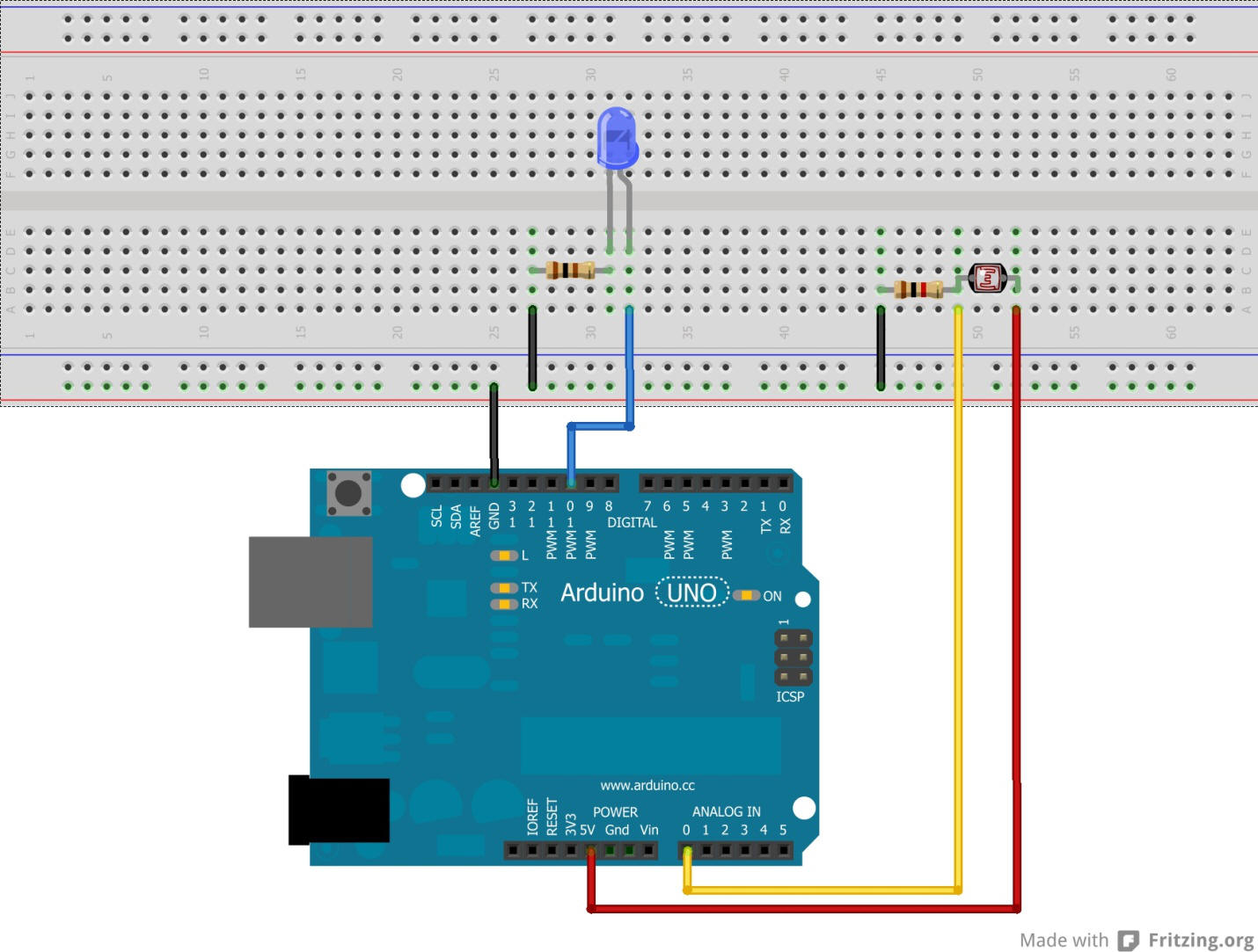 No photo resistor arduino tutorials and kits for